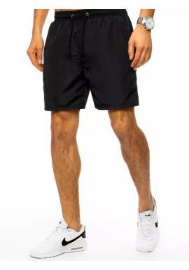 Plavecké pánske šortky čiernej farby s vreckom