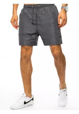 Tmavosivé plavecké šortky s vreckom pre pánov