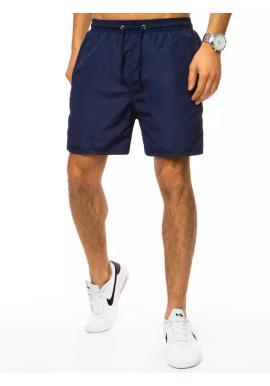 Plavecké pánske šortky tmavomodrej farby s vreckom