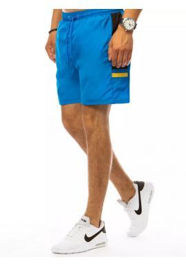 Pánske kúpacie šortky s kontrastnými vložkami v svetlomodrej farbe