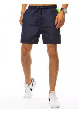 Tmavomodré kúpacie šortky s kontrastnými vložkami pre pánov