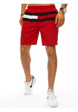 Plavecké pánske šortky bordovej farby s kontrastnými pruhmi