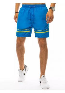 Pánske kúpacie šortky s kontrastnými pruhmi v svetlomodrej farbe