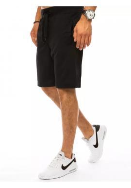 Čierne teplákové kraťasy pre pánov