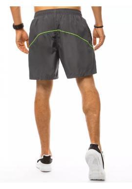 Sivé plavecké šortky s kontrastnými prvkami pre pánov