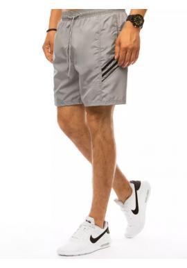 Pánske plavecké šortky s kontrastnými prvkami v svetlosivej farbe