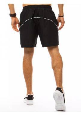 Čierne plavecké šortky s kontrastnými prvkami pre pánov