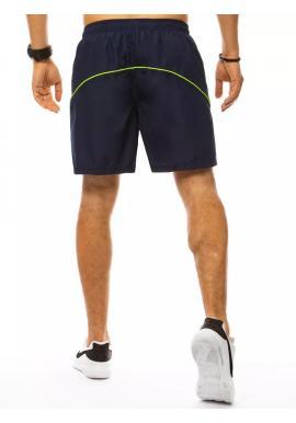 Plavecké pánske šortky tmavomodrej farby s kontrastnými prvkami