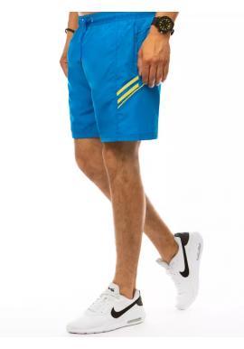 Pánske plavecké šortky s kontrastnými prvkami v svetlomodrej farbe