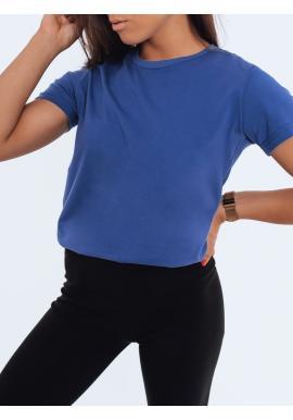 Klasické dámske tričko modrej farby s krátkym rukávom