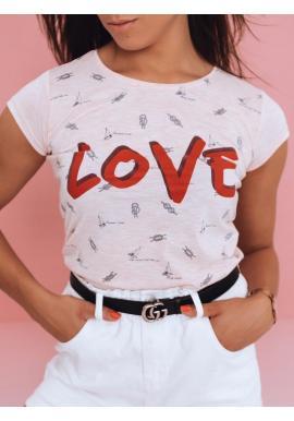 Ružové klasické tričko s potlačou pre dámy