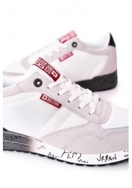 Pánske štýlové tenisky Big Star s pamäťovou stielkou v bielo-sivej farbe