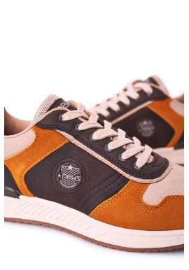 Béžovo-hnedé semišové tenisky pre pánov