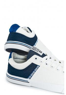 Pánske športové tramky značky Big Star v modro-bielej farbe