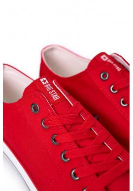 Pánske nízke tramky značky Big Star v červenej farbe