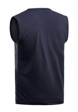 Tmavomodré bavlnené tričko s potlačou pre pánov