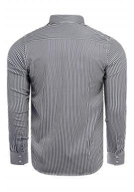 Pánska pásikavá košeľa s dlhým rukávom