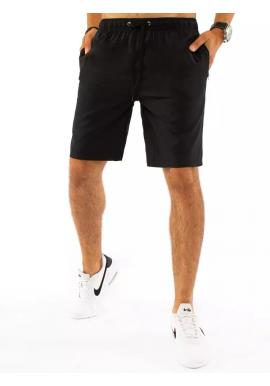 Čierne krátke teplákové kraťasy pre pánov