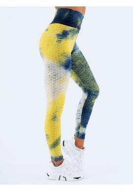 Štýlové farebné dámske legíny s vysokým pásom