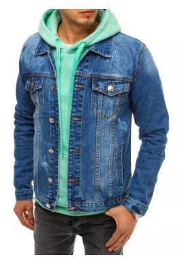 Pánska riflová bunda v modrej farbe