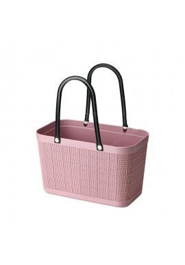 Ružový letný nákupný košík