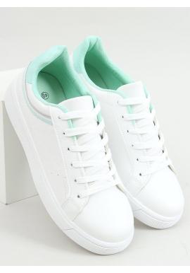 Bielo-zelené klasické tenisky pre dámy