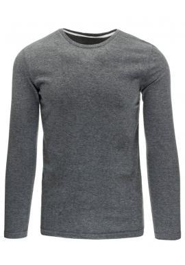 Tričko s dlhým rukávom pre pánov v sivej farbe