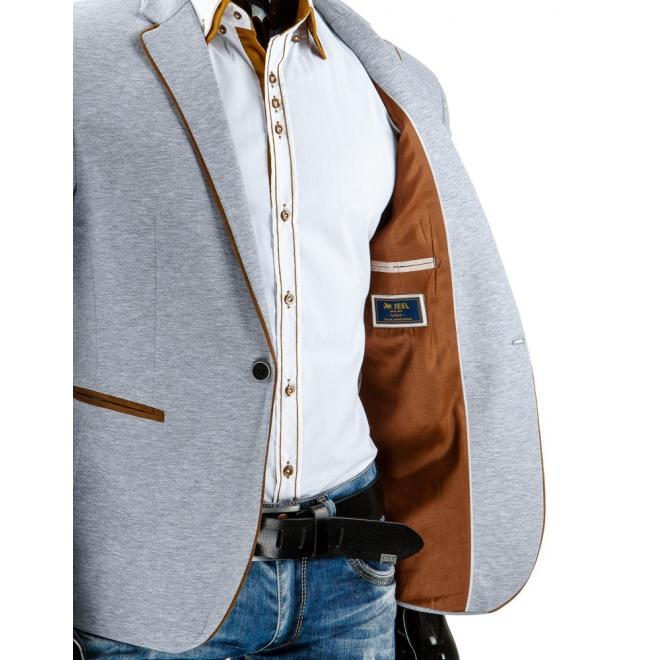 Jednoradové tmavosivé sako pre pánov