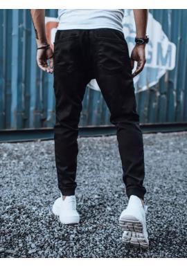 Čierne štýlové joggery s cargo vreckami pre pánov