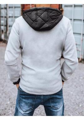 Sivá športová bunda na jeseň pre pánov