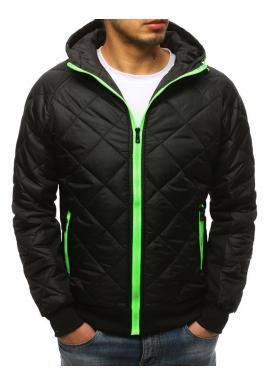 Prechodná pánska bunda čiernej farby s prešívaním