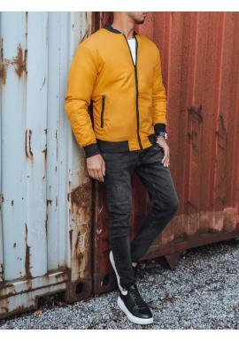 Žltá bomber bunda na jeseň pre pánov