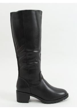 Klasické dámske čižmy čiernej farby