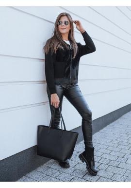 Čierny krátky kabát s kapucňou pre dámy