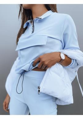 Svetlomodrá módna súprava pre dámy