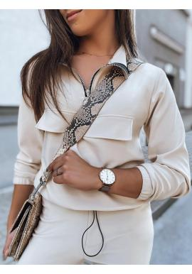 Dámska módna súprava v béžovej farbe
