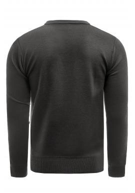 Klasický pánsky sveter čiernej farby s véčkovým výstrihom