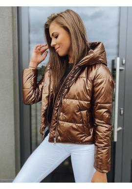 Hnedá zimná bunda s tromi dĺžkami pre dámy