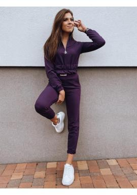 Tepláková dámska súprava mikiny a nohavíc vo fialovej farbe