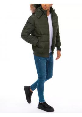 Zelená zimná bunda s kapucňou pre pánov