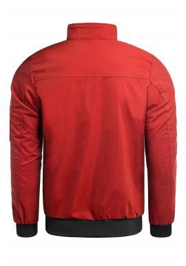 Jarná bunda pre pánov v červenej farbe