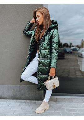 Zimná dámska bunda zelenej farby s tromi dĺžkami