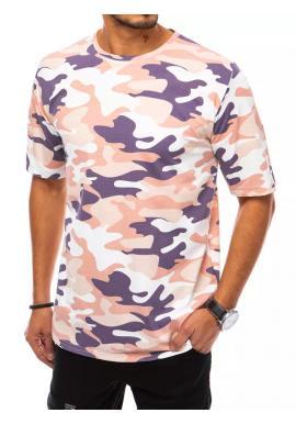 Pánske maskáčové tričko s krátkym rukávom v béžovej farbe