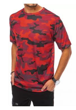 Červené maskáčové tričko s krátkym rukávom pre pánov