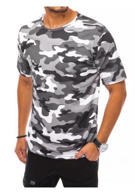 Svetlosivé maskáčové tričko s krátkym rukávom pre pánov