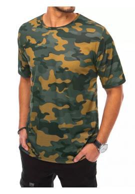 Pánske maskáčové tričká s krátkym rukávom v khaki farbe