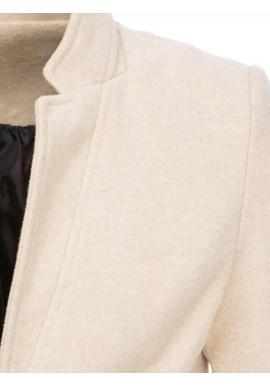 Béžový dlhý jednoradový kabát pre pánov