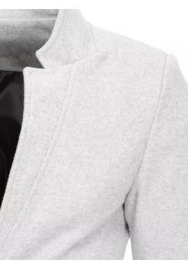 Pánske dlhé jednoradové kabáty v svetlosivej farbe