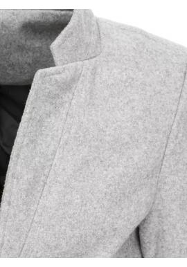 Pánsky dlhý jednoradový kabát v sivej farbe