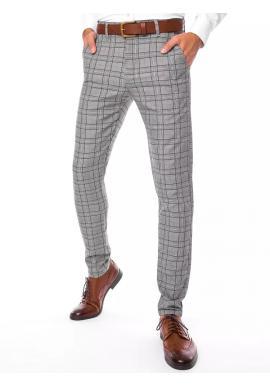 Svetlosivé elegantné nohavice so vzorom pre pánov